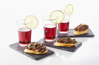 Tartine apero foie de volaille champignon